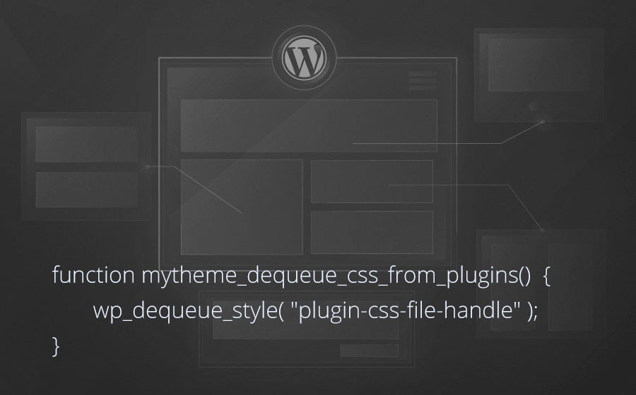 WordPress: Отключить CSS файлы зарегистрированные плагином